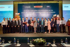 Ban lãnh đạo THIBIDI, Citek, SAP cùng đối tác chúc mừng lễ khởi động dự án SAP S/4HANA